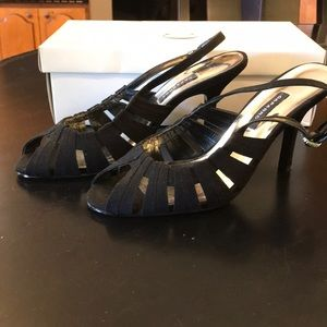 Caparros black dressy sandal size 7.5